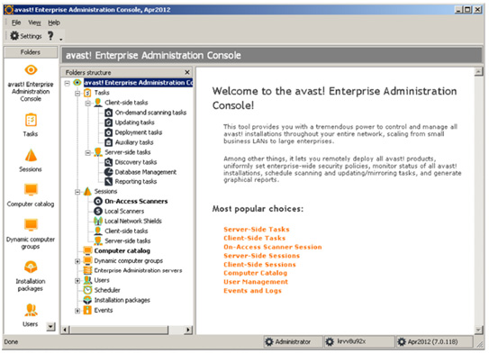 avast! Enterprise Administration